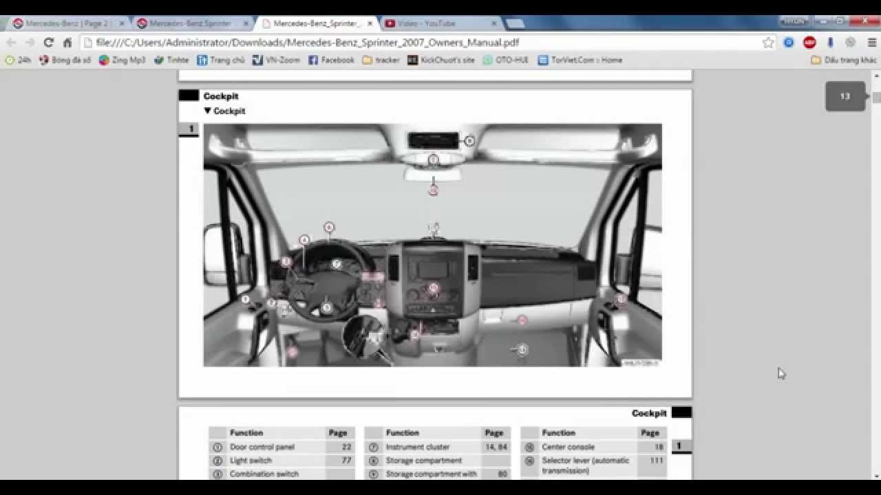 Mercedes benz sprinter 2007 owners manual youtube for Mercedes benz user manual