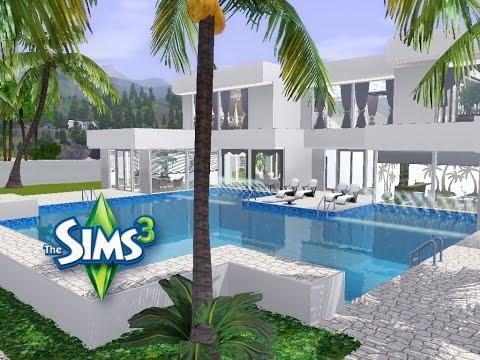 Sims 3 Haus Bauen Let S Build Modernes Luxushaus Mit Blick