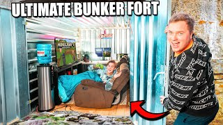 Billionaire HIDDEN Secret Bunker Fort (24 Hour Challenge)