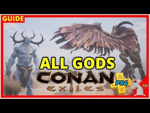CONAN EXILES PS4 Tips  - All Gods | How To Summon Avatars/Religion Explained