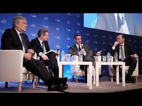 Συζήτηση Κ. Μητσοτάκη με θέμα «Η κοινή μας ευθύνη για τη Μεσόγειο» με τους κ. Ταγιάνι και κ. Βέμπερ