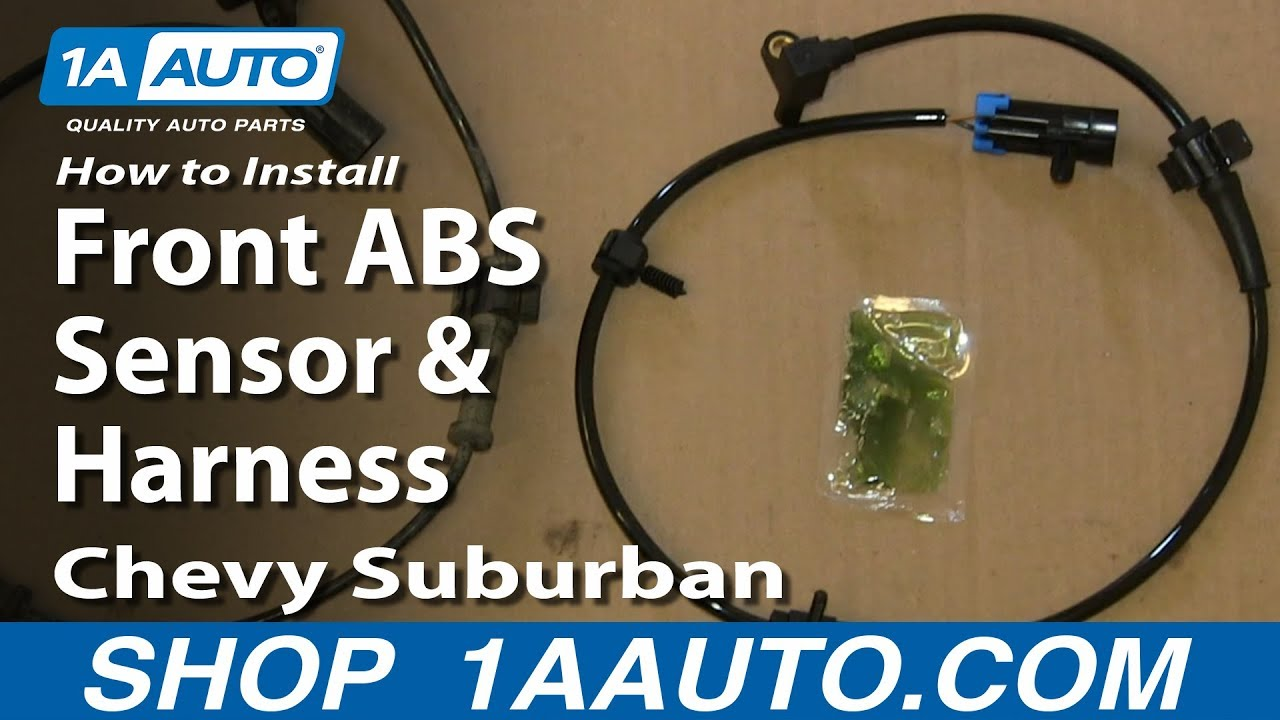 How to Replace Front ABS Sensor with Harness 0007 Chevy Suburban  YouTube