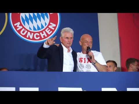 FC Bayern München Deutsche Meister 2018: Paulaner Biergartenfeier am Nockherberg am 12.05.2018