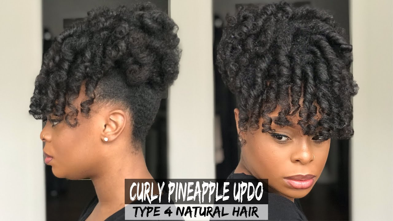 Curly Pineapple Updo Tutorial Type 4 Natural Hair