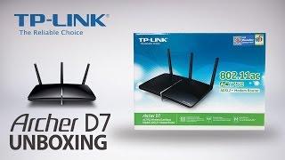 TP-Link AC1750 Wireless Dual Band Gigabit ADSL2+ Modem Router (Archer D7) Unboxing Video