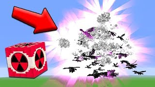 1 MEGA NUKE vs 100 ENDER DRAGONS | Minecraft