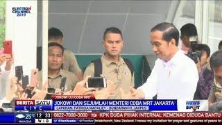 Jokowi Jajal MRT, Masyarakat Berebut Foto Selfie