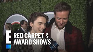 Armie Hammer & Timothee Chalamet Dish on Friendship | E! Live from the Red Carpet
