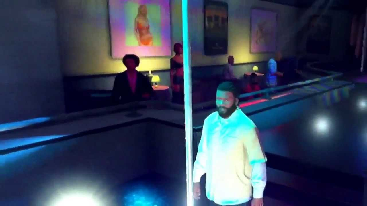 GRAND THEFT AUTO V FRANKLIN THE BACKSTAGE MALE STRIPPER!