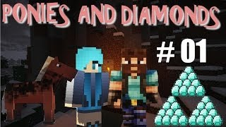 Minecraft : The Quest For Ponies and Diamonds - Episode 1 (Father Daughter Play)