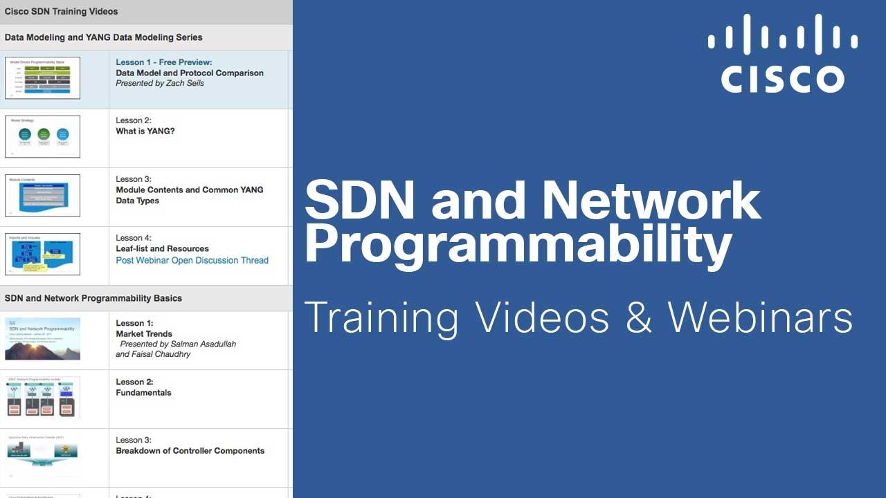 Sdn And Network Programmability Training Videos Webinars Youtube