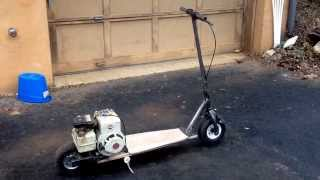 Home made scooter 3HP part 1