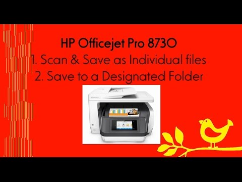 HP Officejet Pro 8710 | 8720 | 8730 | 6960 | 6970 |7740 series : Scan & save as individual PDF files