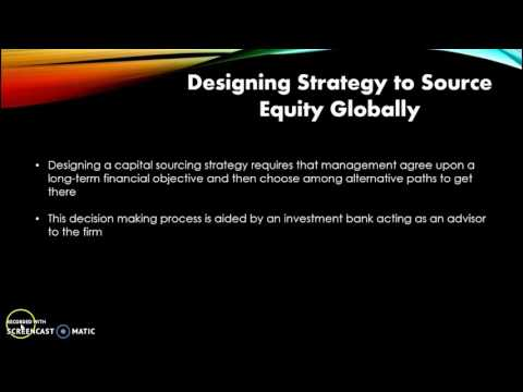 Sourcing Global Equity