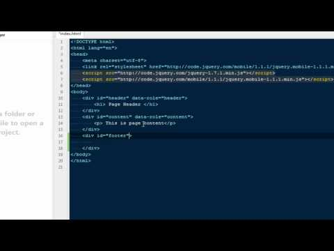 Creating Mobile Applications Using Jquery Mobile
