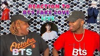 NON KPOP FAN REACTION TO BTS FAKE LOVE LIVE *GOING TO CONCERT YALL *