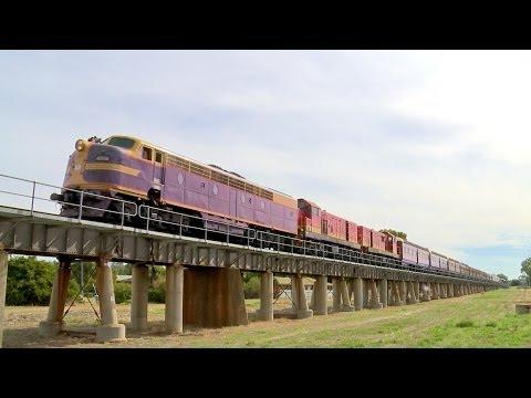 LVR Heritage Train featuring 3265 on the Wagga Wagga Viaduct - PoathTV Australian Trains & Railways