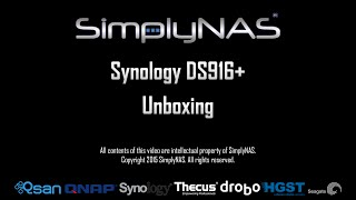 Synology DS916+ Unboxing By SimplyNAS