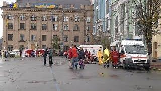 У центрі Києва представники Червоного хреста показували,що робити до приїзду медиків?>
