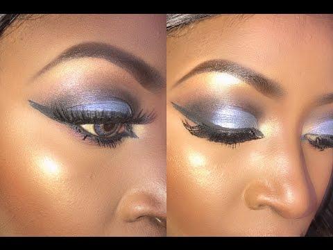 Blue Half Smokey Cat Eye with Soft Lips
