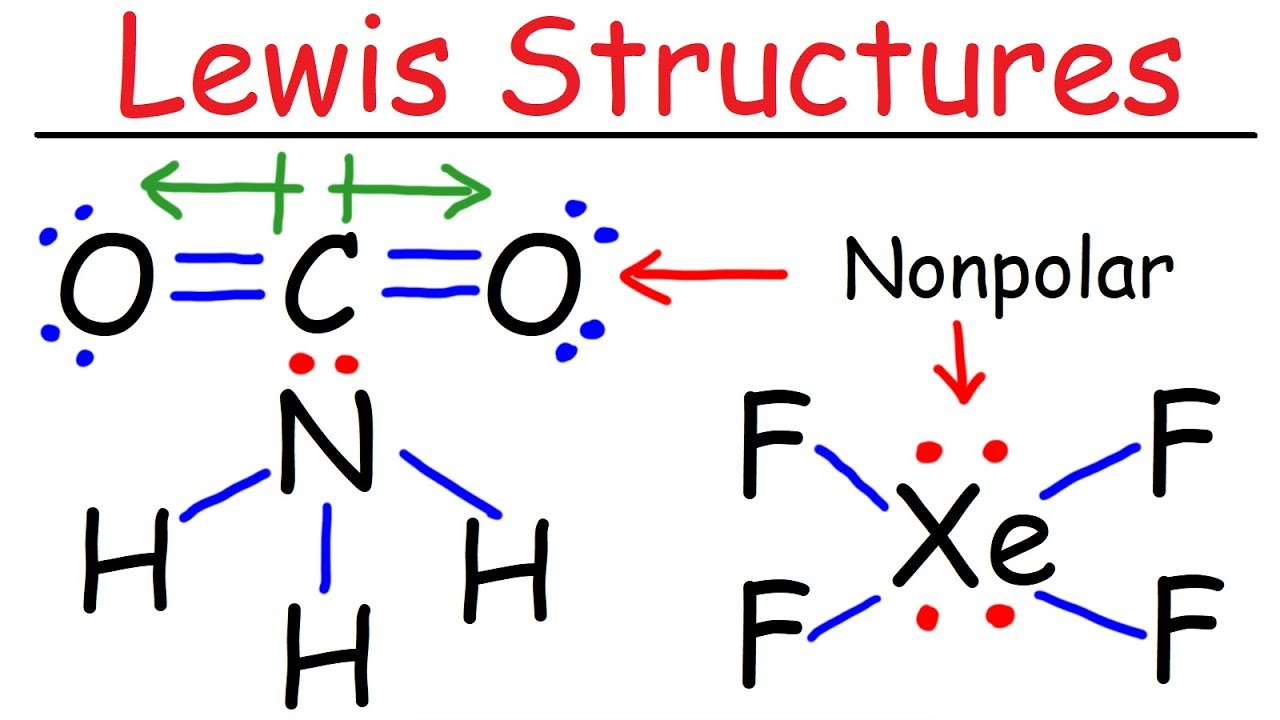 lewis structures introduction formal charge molecular geometry resonance polar or nonpolar [ 1280 x 720 Pixel ]
