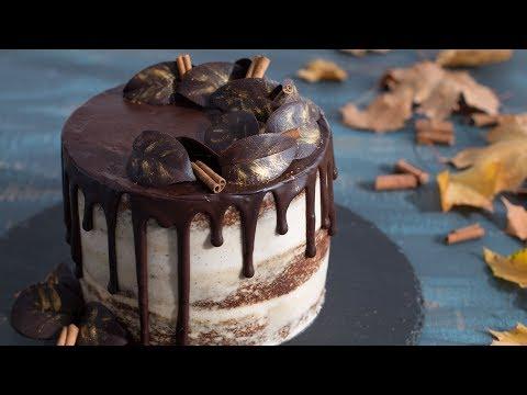 Semi-Naked Pumpkin Chocolate Cake