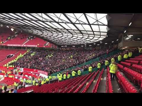 Liverpool Fans at Old Trafford Allez, Allez, Allez 2018