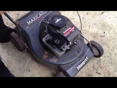PushMowerRepair.com - Briggs 3.5HP Adjusting Governor to Change Rpm