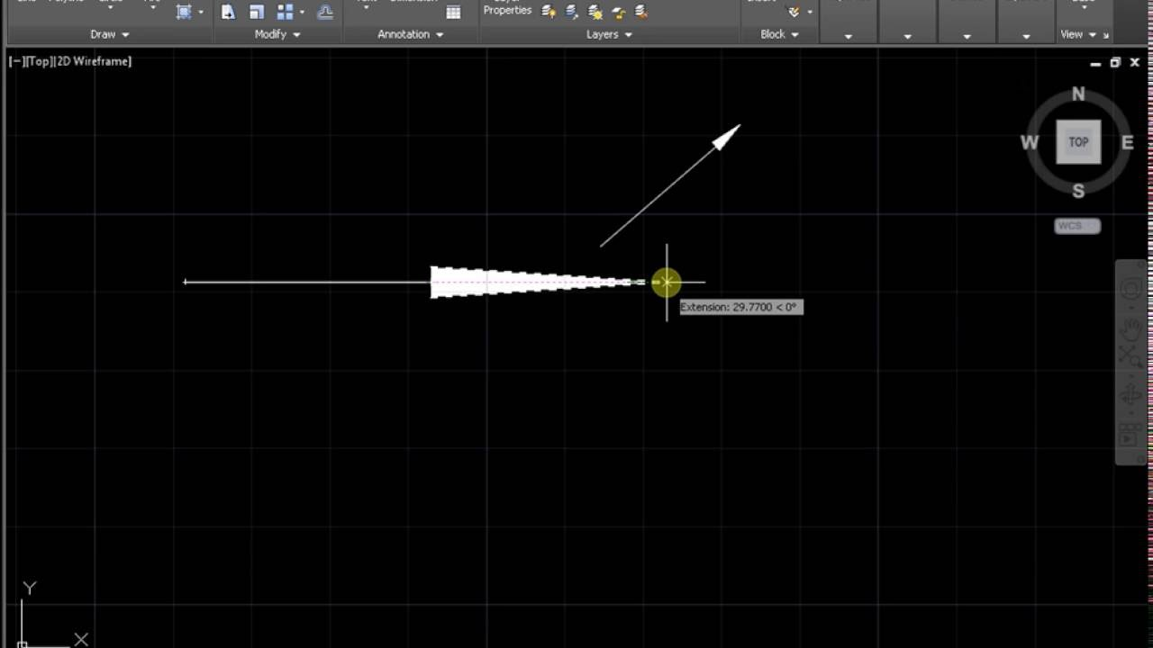 how to draw an arrow in autocad youtube process flow diagram template process flow diagram dwg [ 1280 x 720 Pixel ]