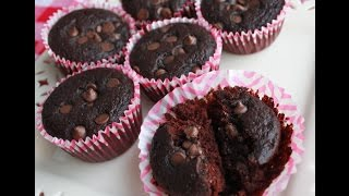 Brownie Batter Muffins (wheat-free, Chia Egg Option)
