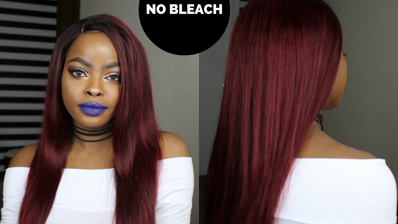 How To Dye Your Hair From Dark To Red WITHOUT BLEACH | L\'oreal ...