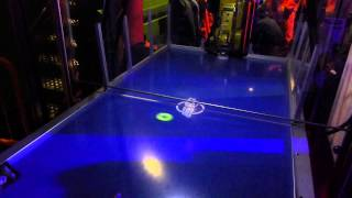 Air hockey table robot at Questacon, Canberra, Australia