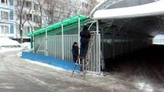 Навесы из поликарбоната  Монтаж(, 2011-02-21T18:59:51.000Z)