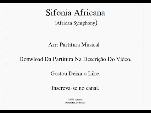 Sheet Music African Symphony - Marcial band