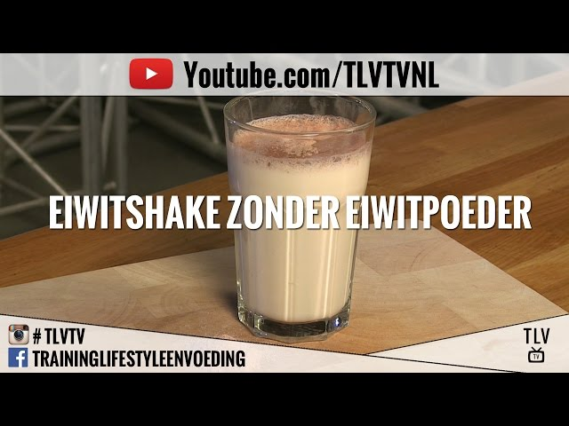 Eiwitshake zonder eiwitpoeder