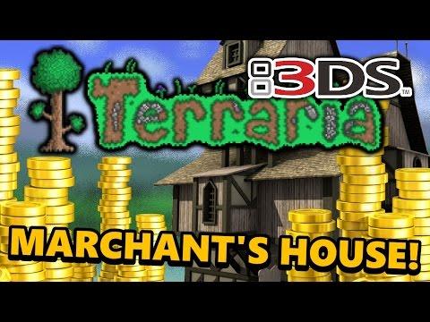 Terraria 3DS - Part 04: MERCHANT HOUSE! (Nintendo 3DS Playthrough)