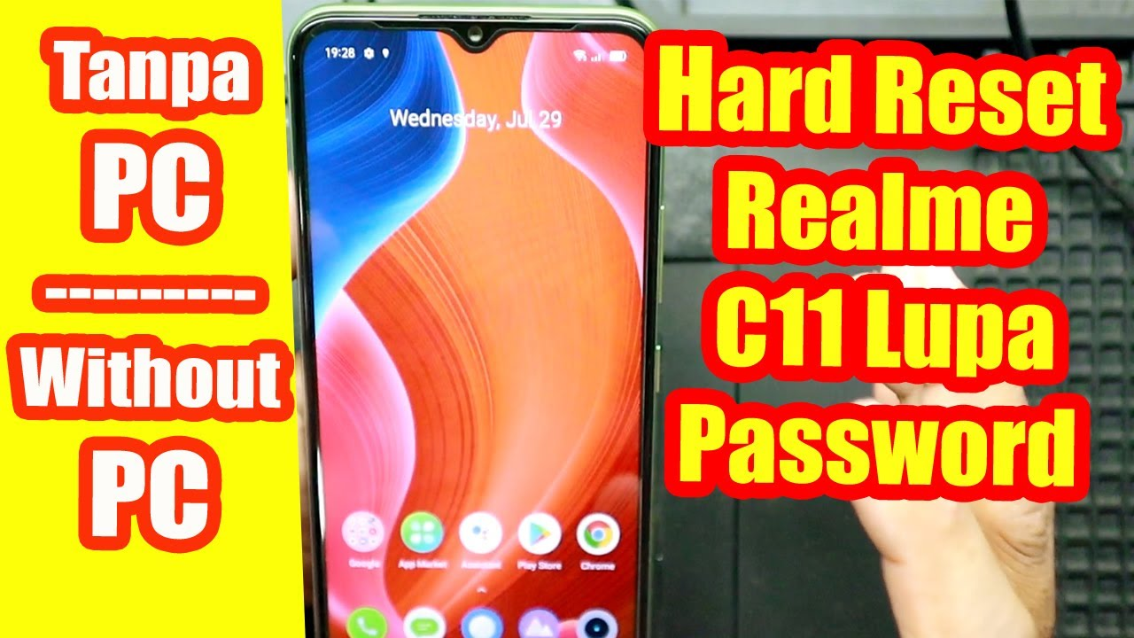 Cara Hard Reset HP Realme C11 Lupa Sandi /Lupa Password TANPA PC  (Without Computer)