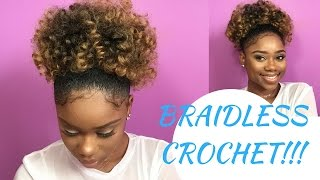 BRAIDLESS CROCHET - HIGH PUFF || Jamaican BOUNCE Crochet Braiding Hair