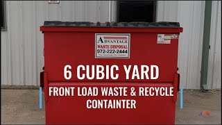 6 Cubic Yard Front Load Dumpster for Business Waste and Recycling Bin | Advantage Waste Disposal