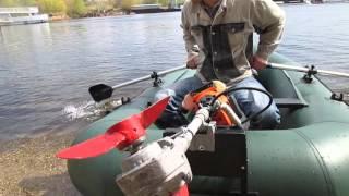 как сделать моторную лодку из триммера