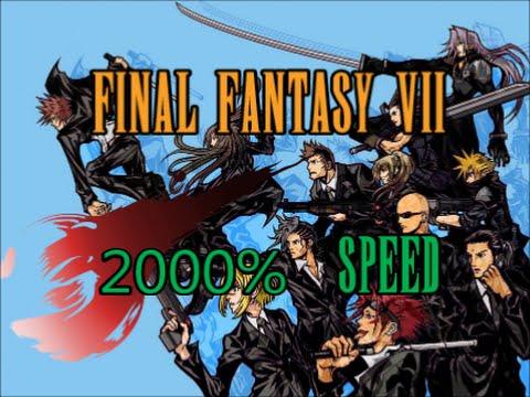 Final Fantasy VII in 22 minutes - 2000% Speedrun