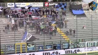 Spezia-Latina 1-4, la curva nerazzurra