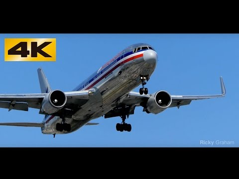 【4K】Airliners Landing on 24R at LAX Airport