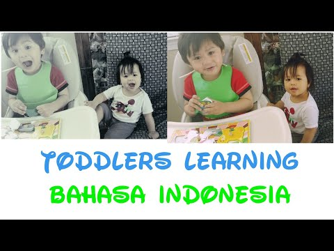 Toddlers learning how to speak Bahasa Indonesia
