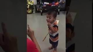 THANH DUY tập cho cháu của Kha Ly nói chuyện cực hề hước