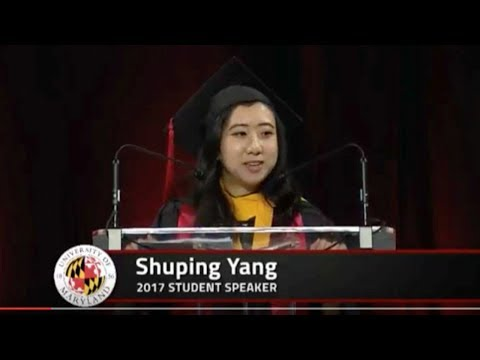 Why is the Maryland commencement speech stirring our emotions?