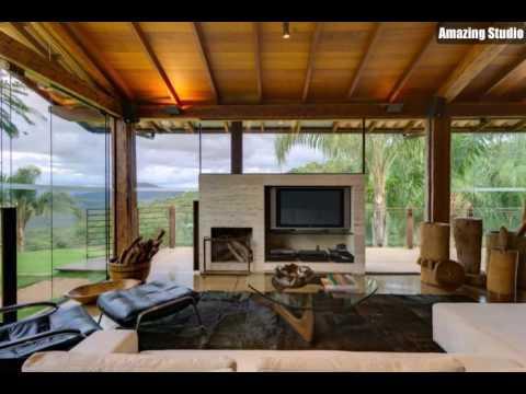 Moderne Landhausmöbel Ferienhaus Villa Fernseher Kamin