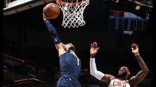 LeBron James Blocks Tyus Jones, Who Follows With Big Dunk | January 8, 2018