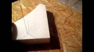 Как вырезать фигуру из пенопласта!(В данном видео используется обычный сварочный аппарат. Сила тока поставлена на минимум. Длинна проволоки..., 2013-10-13T11:28:07.000Z)