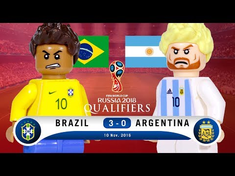 LEGO BRAZIL 3 - 0 ARGENTINA Russia 2018 Qualifiers
